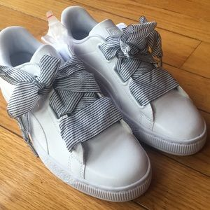 Puma basket sneakers ladies 9.5 white